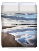 Smooth Water Reflections Duvet Cover