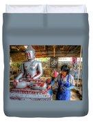 Smoothing Buddha Duvet Cover