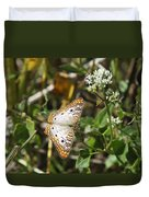 Snack For A White Peacock Butterfly Duvet Cover
