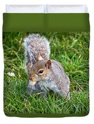 Snack Time For Squirrels Duvet Cover