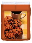 Snack Time - Muffins And Coffee Duvet Cover