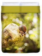 Snail Of A Time Duvet Cover