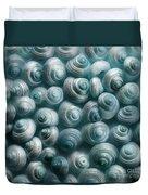 Snails Cyan Duvet Cover by Priska Wettstein
