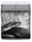 Snake In Black And White Duvet Cover