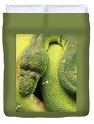 Snake In Green Dress Duvet Cover