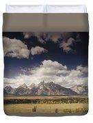 Snake River Valley Grand Teton Np Duvet Cover