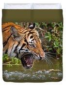Snarling Tiger Duvet Cover