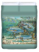 Snook Attack In0014 Duvet Cover