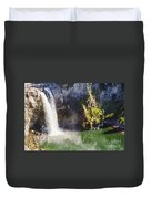 Snoqualime Falls And Pool Duvet Cover