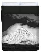 Snow And Clouds On Mt. Ngauruhoe 2 Duvet Cover