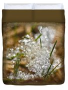 Snow And Ice Macro Duvet Cover
