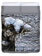 Snow And Icicles No. 2 Duvet Cover
