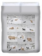 Snow Angels Paso Fino Style Duvet Cover
