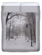 Snow At Bulls Island - 29 Duvet Cover