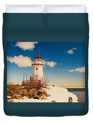 Snow At Cheboygan Crib Duvet Cover