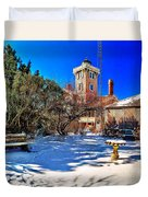 Snow At Hereford Inlet Duvet Cover