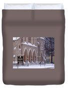 Snow At St. John's Duvet Cover
