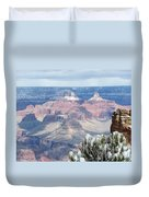 Snow At The Grand Canyon Duvet Cover