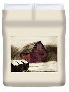 Snow Bales Duvet Cover by Julie Hamilton