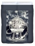 Snow Ball Duvet Cover by Mo T