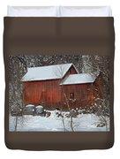 Snow Barn Duvet Cover