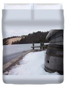 Snow Barrel Duvet Cover