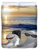 Snow Bird Vacation Duvet Cover