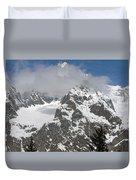 Snow Bowl In Italian Alps Duvet Cover