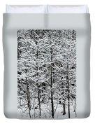 Snow Branches Duvet Cover