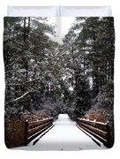 Snow Bridge Duvet Cover