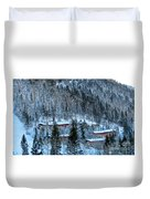 Snow Cabins Duvet Cover