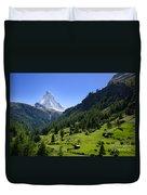 Snow-capped Matterhorn Duvet Cover