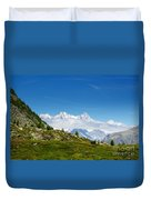 Snow-capped Mountain And Cloud Duvet Cover