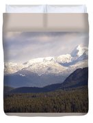 Snow Capped Mountains Duvet Cover