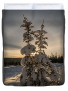 Snow Capped Sitka Spruce Duvet Cover