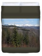 Snow Capped View Duvet Cover