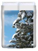 Snow-clad Pine Duvet Cover