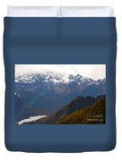 Snow Clouds In The Andes Duvet Cover