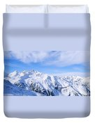 Snow Covered Alps, Schonjoch, Tirol Duvet Cover