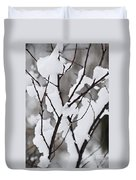 Snow Covered Branches Duvet Cover