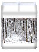 Snow Covered Forest 4 Duvet Cover