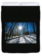 Snow Covered Forest Duvet Cover