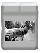 Snow Covered History Duvet Cover