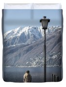 Snow Covered Mountains Duvet Cover