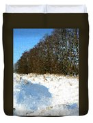 Snow Covered Riverbed Duvet Cover