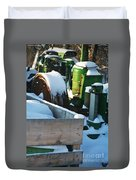 Snow Covered Tractor Duvet Cover by PainterArtist FIN