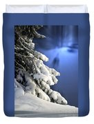 Snow Covered Tree Branches Duvet Cover