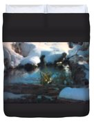 Snow Covered Waterscape Duvet Cover