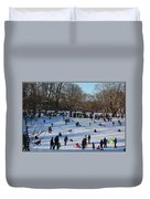 Snow Day - Fun Day At The Park Duvet Cover
