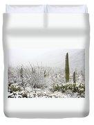 Snow Day In The Desert  Duvet Cover by Saija  Lehtonen